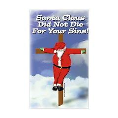 Santa Cross Rectangle Decal