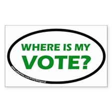 WHERE IS MY VOTE? Rectangle Decal