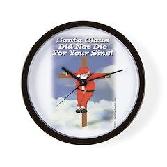 Santa Cross Wall Clock