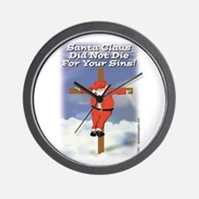 Santa Cross Wall Clock