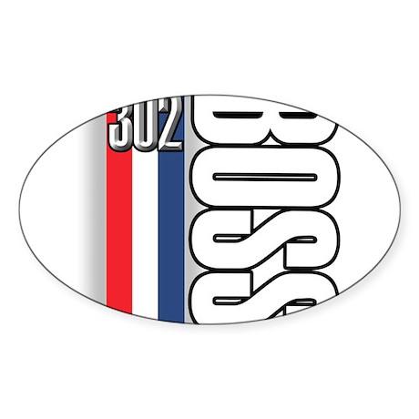 302 boss RWB Oval Sticker (50 pk)