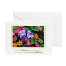 Colorful Flower Pot Greeting Card