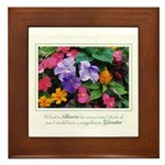 Colorful Flower Pot Framed Tile