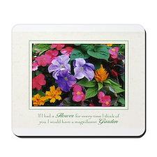 Colorful Flower Pot Mousepad