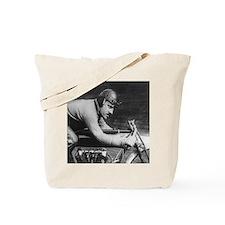 Vintage Motorcycle Racer Tote Bag