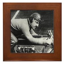 Vintage Motorcycle Racer Framed Tile