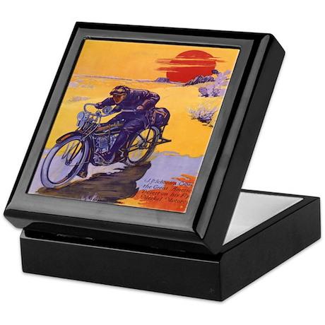 Vintage Motorcycle Keepsake Box