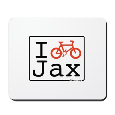 I Bike Jax Mousepad