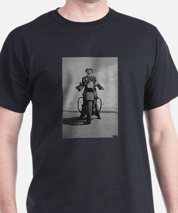 Vintage Motorcycle Police T-Shirt