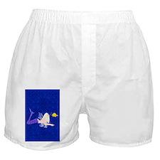 Mermaid kissing fish Boxer Shorts