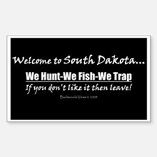 South Dakota Hunt-Fish-Trap! Sticker.