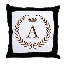 Napoleon initial letter A monogram Throw Pillow