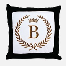 Napoleon initial letter B monogram Throw Pillow