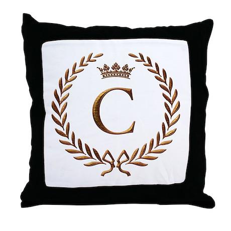 Napoleon initial letter C monogram Throw Pillow