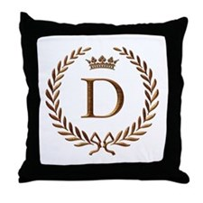 Napoleon initial letter D monogram Throw Pillow