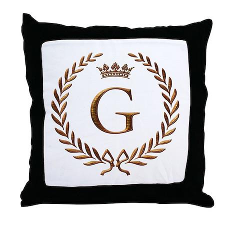 Napoleon initial letter G monogram Throw Pillow