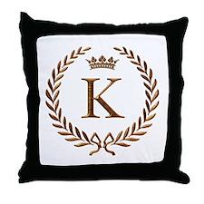 Napoleon initial letter K monogram Throw Pillow