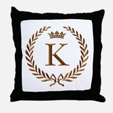 Napoleon initial letter K monogram Throw Pillow