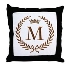 Napoleon initial letter M Throw Pillow