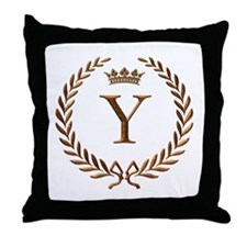 Napoleon initial letter Y monogram Throw Pillow