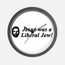 Jesus Was a Liberal Jew Wall Clock