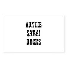 AUNTIE SARAI ROCKS Rectangle Decal