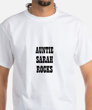 AUNTIE SARAH ROCKS White T-Shirt