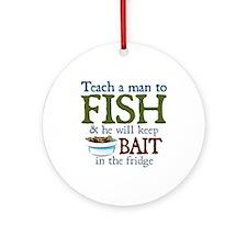 Teach a Man to Fish Ornament (Round)