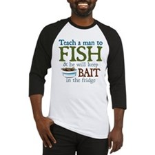 Teach a Man to Fish Baseball Jersey