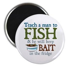Teach a Man to Fish Magnet