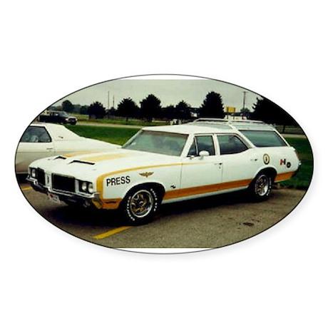 Oldsmobile Vista Cruiser Oval Sticker (50 pk)