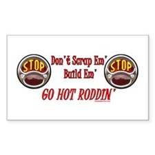 Go Hot Roddin'- Rectangle Decal