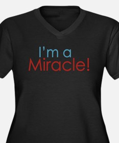 I'm a Miracle (Baby) Women's Plus Size V-Neck Dark