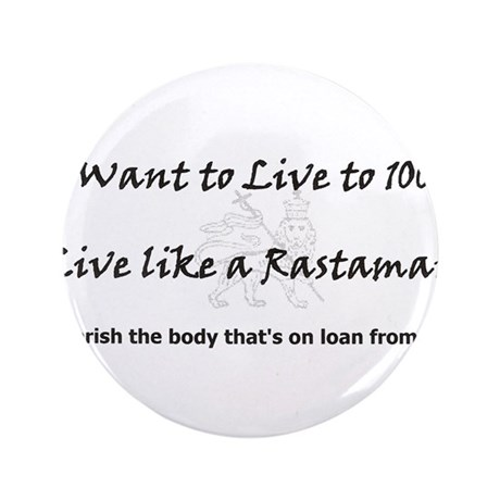 "Rastaman 3.5"" Button (100 pack)"
