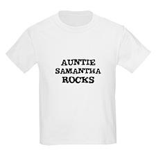 AUNTIE SAMANTHA ROCKS Kids T-Shirt