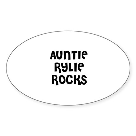 AUNTIE RYLIE ROCKS Oval Sticker