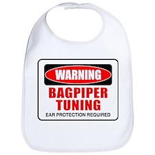 Warning Bagpiper Tuning Bib