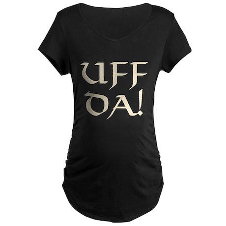 Uff Da! Maternity Dark T-Shirt