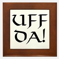 Uff Da! Framed Tile