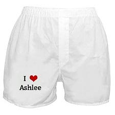 I Love Ashlee Boxer Shorts