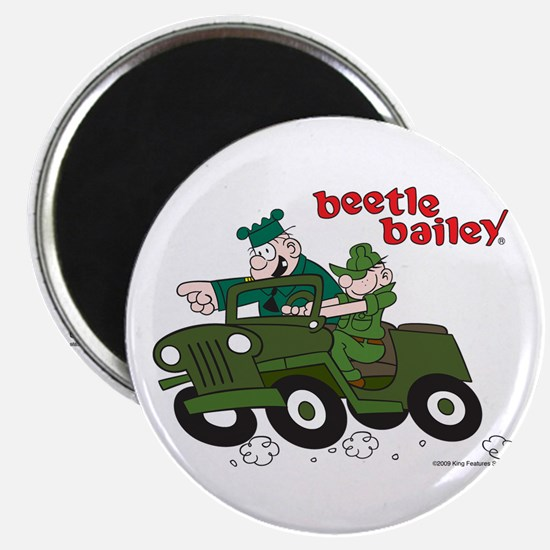 Beetle and Sarge in Jeep Magnet