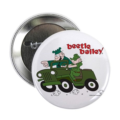 "Beetle and Sarge in Jeep 2.25"" Button"
