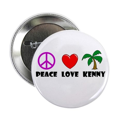 "Peace Love Kenny 2.25"" Button (10 pack)"