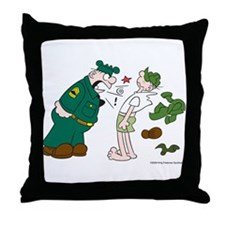 Sarge Yelling Throw Pillow