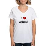 I Love Ashlee Women's V-Neck T-Shirt