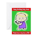 Classic Baby Jesus Christmas Cards (10pk)