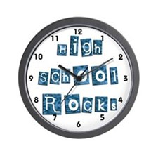 High School Rocks Wall Clock