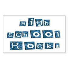 High School Rocks Rectangle Decal