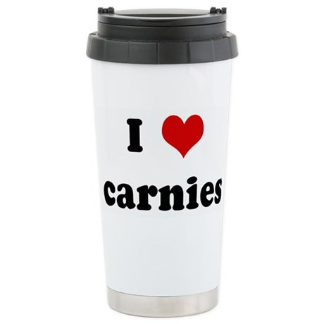 I Love carnies Stainless Steel Travel Mug