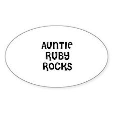 AUNTIE RUBY ROCKS Oval Decal